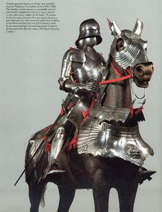 Gothic armor for knight & horse