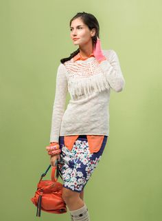 SYBILLA Sweater! Colores, colores y prints! Cool Sweaters, Skirts, Fashion, Colors, Women, Moda, Fashion Styles, Skirt