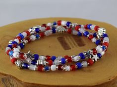 Americana red white and blue patriotic stretchy by OklahomaMama