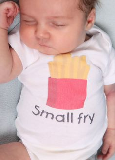 Small Fry - Funny Baby Onesie or  Toddler Shirt by ShopTheIttyBitty, $16.00