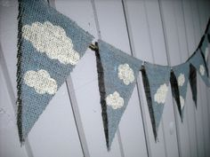 Baby Nursery Banner CLOUDS  SKY / Photography by nhayesdesigns, $18.50