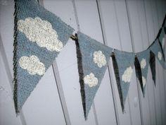 Baby Shower / Nursery Banner CLOUDS & SKY / by nhayesdesigns, $26.00