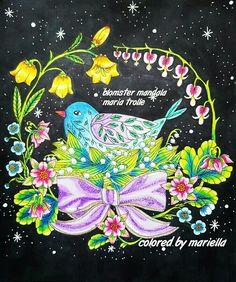 #blomstermandala #mariatrolle #adultcoloring #coloringmaster #coloringpencils #coloring #pencils #pencil #art #colors #colorfull #colorful #pencils #coloringpencils #marcoraffine #sharpie