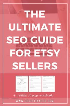 SEO. Everyone always talks about SEO, but what exactly is SEO and why does it matter when it comes to being an Etsy seller? Well, I'm going to cover all of your questions about Etsy SEO in this blog post, so sit down and breakout a pad and paper and take notes! Oh and grab a snack too! I've even included a 10 page workbook for you to use for FREE!