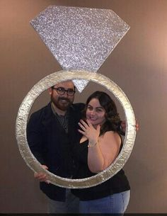 Order your custom Engagement Ring selfie frame for your big announcement today! Shop Engagement Rings, Antique Engagement Rings, Diamond Engagement Rings, Party Photo Frame, Vera Wang, Bridal Shower Decorations, Ring Verlobung, Selfie Ideas, Ideas Joyería