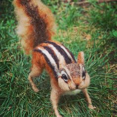 Needle Felted Chipmunk by Facci Designs