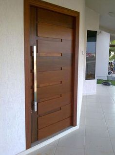 im thinking this is a great inspiration for modernizing those plain hollow core doors - Door Design Ideas