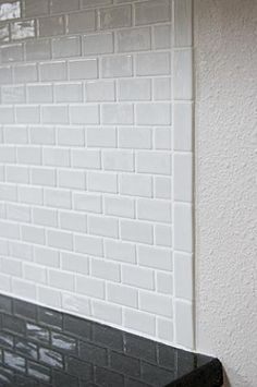 34 best tile edge images kitchen backsplash white subway tile rh pinterest com