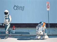 Astronaut Dinosaur – 28 peintures de Scott Listfield
