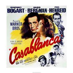 Reproduction Casablanca Film Poster Old Movie Posters, Classic Movie Posters, Cinema Posters, Movie Poster Art, Classic Films, Vintage Posters, Timeless Classic, Ingrid Bergman, Humphrey Bogart