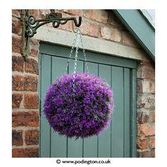 Decorative Purple Heather 30cm Topiary Ball