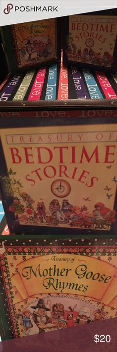2 wonderful books Mother Goose Rhymes & Bed Time Stories Accessories