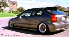 Slammed Society Civic EK2 hatch Ek Hatch, Civic Eg, Honda Civic Hatchback, Rims For Cars, Import Cars, Jdm Cars, Car Manufacturers, Cars Motorcycles, Cool Cars