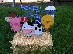 Farm/Barnyard Birthday Centerpiece Set of 6. $11.00, via Etsy.