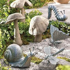 Outdoor Garden Statues, Outdoor Sculpture, Garden Sculpture, Concrete Garden Statues, Cement Garden, Hollyhocks Flowers, Lawn Edging, Lawn Ornaments, Garden Inspiration