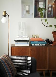 There's something very modern and preppy about this space. carolina and patrik | house renovation in gothenburg, sweden