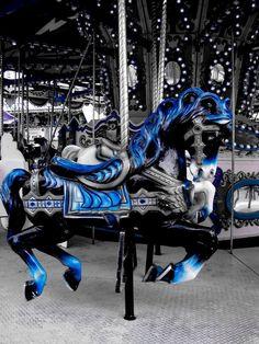 blue color splash carousel splash of color Color Splash, Color Pop, Splash Photography, Black And White Photography, Color Photography, Rosto Halloween, Candy Pink, Carosel Horse, Painted Pony