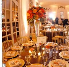 chocolate brown and orange wedding - Google Search | wedding ideas ...