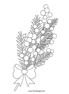 Disegni Fiori - Mimosa da colorare - TuttoDisegni.com Beaded Embroidery, Embroidery Patterns, Hand Embroidery, Mimosa Flor, Art Attak, Grape Drawing, Wedding Cake Boxes, Brush Pen Art, Animal Skeletons