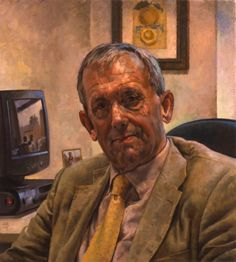 Cobley D Kevin Gournay, CBE Professor Emeritus, Institute of Psychiatry' inches oil on linen 2006 Royal Society, He Is Able, Interesting Faces, Brush Strokes, Great Artists, Family Portraits, David, Painting, Psychiatry