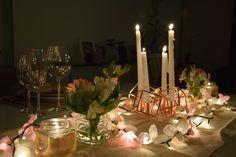 Editorial Dia dos Namorados- Jantar Romântico- Home Decor-  Decoração Mesas-Velas- Vasos