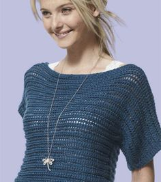 Easy Knitting Pattern: Top with Dolman Sleeves Easy Knitting Patterns, Free Knitting, Knitting Projects, Crochet Patterns, Free Plus, How To Purl Knit, Knit Fashion, Diy Clothing, Crochet Lace