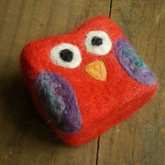 Felted soap Mini Monster Little Red Owl