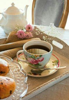 Café em estilo romântico