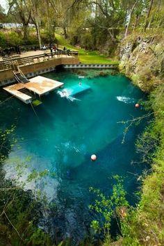Dive at Blue Grotto, Williston, Florida
