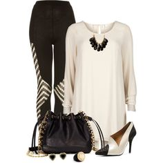 """Black & Ivory"" by capehler on Polyvore"