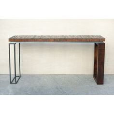 Great Big Sur Desk- Handmade from reclaimed douglas fir and recycled iron steel.  www.blakeavenue.com