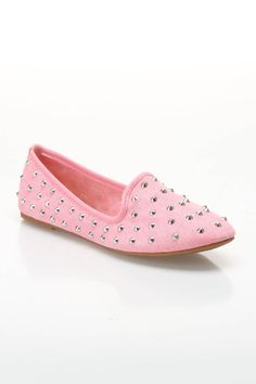 Loafer Slip-Ons in Pink.