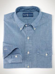 Ralph Lauren Custom-Fit Chambray Shirt, $69.99
