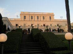 Wedding Dinner - private Villa Miani Roma - Church Wedding in Rome - weddingplanner: www.prime-moments.com