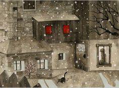 Quiet Evenings Watercolor Illustration by DareDofIllustrations