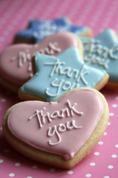 """Thank you"" cookies : Beautifully hand Iced biscuits 