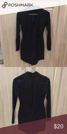 Missguided Black Keyhole Dress Simple black keyhole dress. Long sleeves. Little black dress. Worn 3 times. Missguided Dresses Mini