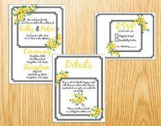 Custom Printable Wedding Invitation Suite  by SmittenHouseStudio