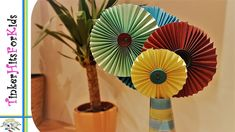 Lollipop paper flowers
