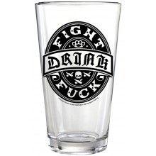 KUSTOM KREEPS PINT GLASS DRINK FIGHT F**K