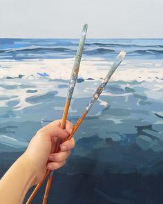 My Art Studio, My Happy Place, Paintings, Creative, Paint, Painting Art, Painting, Painted Canvas, Drawings