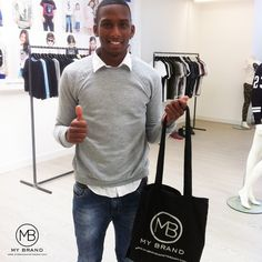 Soccer player Dion Malone at the MY BRAND HQ