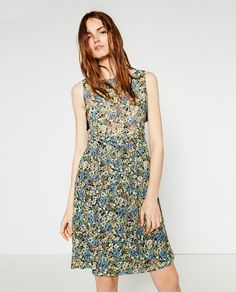 Image 2 of PRINTED GUIPURE LACE DRESS from Zara