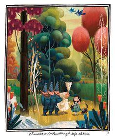 çizgili masallar: The Wonderful Wizard of Oz by Júlia Sardà - Amazing! Wizard Of Oz Book, James Bond Movie Posters, Famous Fairies, Hidden Art, Cute Monsters, Vintage Pictures, Book Design, Alice In Wonderland, Castles