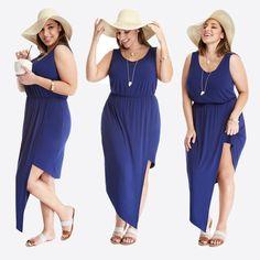 Coastal Asymmetric Maxi Dress  $39.90