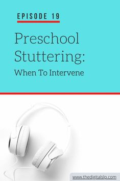 How can SLPs help preschool children who stutter? In this podcast episode, I talk about when we might intervene or when we might watch and wait. Be sure to grab the FREE preschool stuttering handout. | The Digital SLP #stutteringtherapy #fluency #stuttering Preschool Speech Therapy, Speech Language Pathology, Speech Therapy Activities, Speech And Language, Toddler Language Development, Articulation Activities, Free Preschool, Early Intervention, Watch