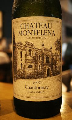 Chateau Montelena 2007 Chardonnay.... I don't usually care for chardonnays, but this one is so good