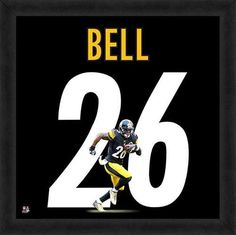 LE'VEON BELL FRAMED PITTSBURGH STEELERS 20X20 JERSEY PHOTO