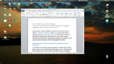 Office 2010 running on Linux Mint with CrossOver