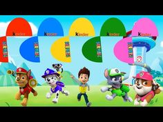 Colors for children to learn with color Ryder, Chase, Marshall, Rocky, R...